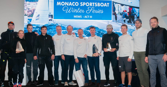 J70 Monaco Winter Series podium