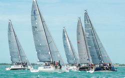 J/88s sailing One-Design racing