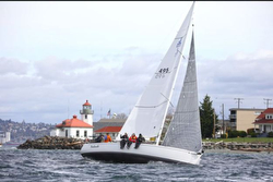 J/105 sailing Three Tree Point race- Seattle