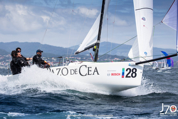 J/70 sailing off Vigo, Spain
