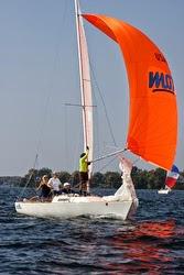 J/22 women's sailng team on Lake Minnetonka