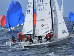 J/70 Russian teams sailing off YC Monaco