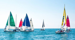 J/80s sailing Women's Italia Cup in Chiavari, Italy