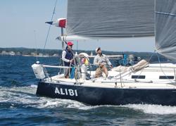 J/120 Ailibi sailing doublehanded