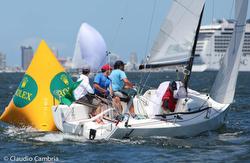 J/70s sailing off Punta del Este