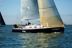 J/120 MAVERICK sailing doublehanded regatta