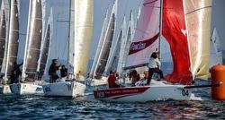 J/80 sailing in Santander, Spain