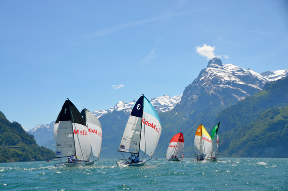 Swiss J/70 Sailing League action