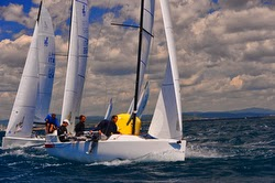J/70s sailing off Itally