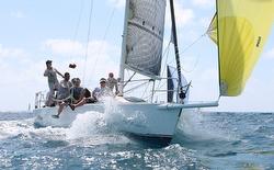 J/105 sailing Heineken St Maarten regatta
