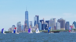 J/105's sailing off New York city