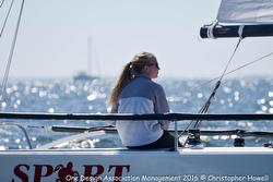 women sailing J/70s in Florida