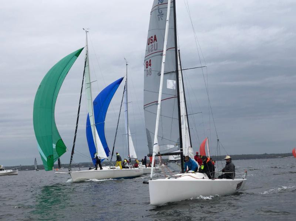J/70s sailing American YC Spring Series