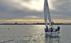 J/22 sailing San Diego YC Match Race series