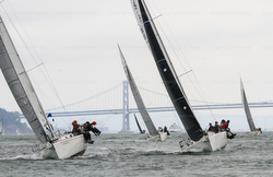 J/105s sailing Swiftsure Cup off Golden Gate Bridge