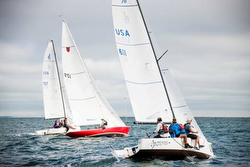 J/70s sailing Round Sound Race