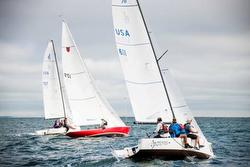 J/70s sailing Round Sound Race
