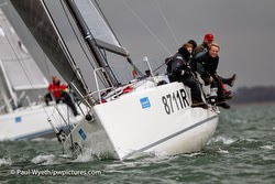 J/111 sailing Hamble Winter Series