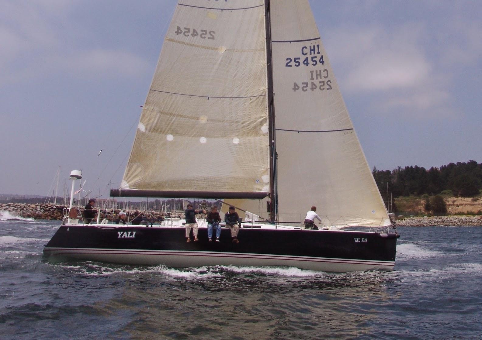 J/145 sailing off Algarrobo, Chile