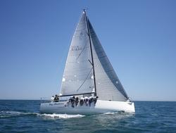J/111 My Sharona sailing fast