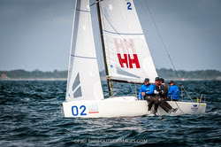 J/70 Helly Hansen/ Tim Healy winning Worlds