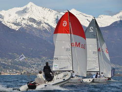 J/70s sailing Swiss Super League - Locarno- Lake Maggiore