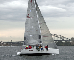 J/97E sailing Sydney Harbour Regatta