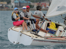 J/22 sailing Jamaica with woman skipper