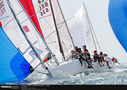 J/80s sailing on reach