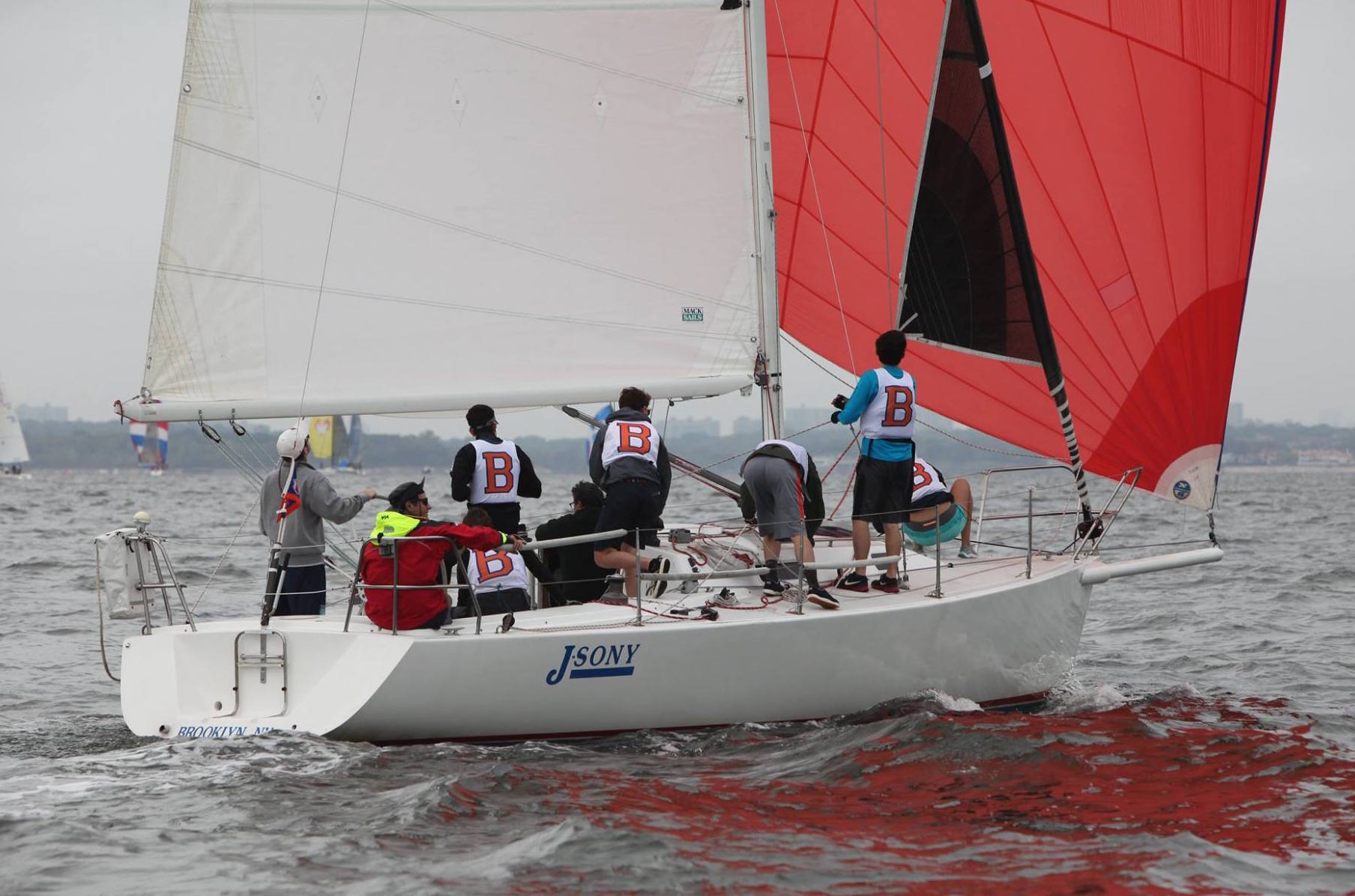 J/105 sailing Storm Trysail college big boat