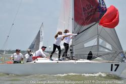 women sailing J/24s