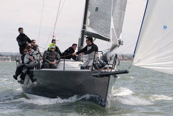 J/111s sailing under spinnaker on Solent