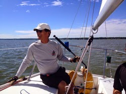J/24 sailor Lambert Lai at peace on the helm