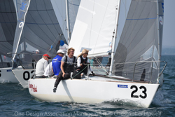 Tony Parker and Martha Parker and crew on J/24 Bangor Packet