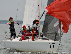 J/24 women's sailing team