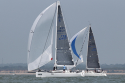 J/112E Grand Prix sailing downwind