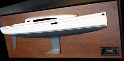 J/112E model sailboat- half-model