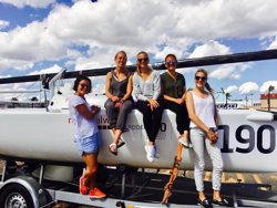 German J/70 women's team at J/70 Worlds Sardinia, Italy