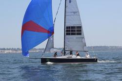 J/88 Electra sailing off Newport