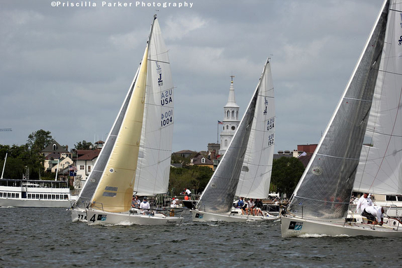 J/80s sailing Charleston Race Week, SC