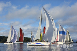 J/111 sailing Round County
