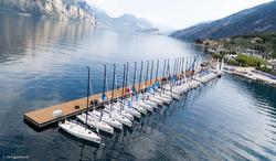 J/70s moored on Lake Garda, Fraglia Vela Riva