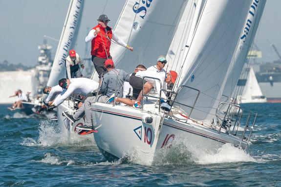 J/105 sailing Masters Regatta off San Diego