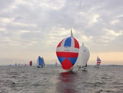 Beachball spinnakers on skinny sailboats