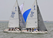 J/80s sailing Galveston Bay, Houston, Tx