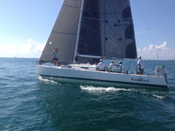 J/125 sailing off Florida