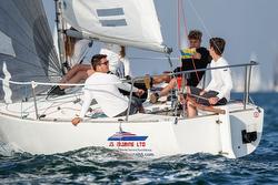 J/24 sailing 1,000th Round Island Race
