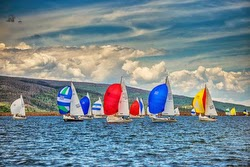 J/24s sailing at Lake Dillon Open