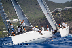 J/11S Sleeper sailing Antigua Sailing Week