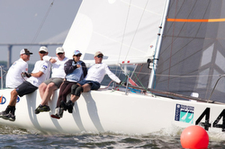 J/24s sailing Charleston Race Week